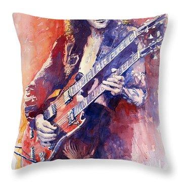 Jimmi Page Throw Pillow by Yuriy Shevchuk