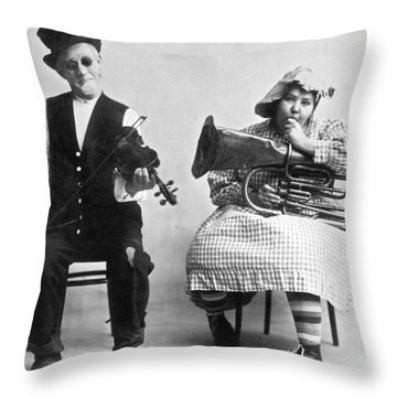 Jimmie And Blanche Creighton Throw Pillow