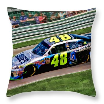 Jimmie Johnson Throw Pillow