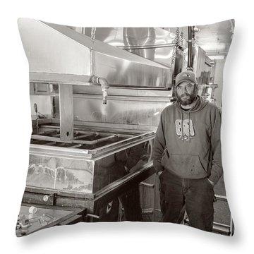 Jimmy At Mt Cube Sugar Farm Throw Pillow by Edward Fielding