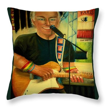 Jimmy Buffett In Paris Throw Pillow