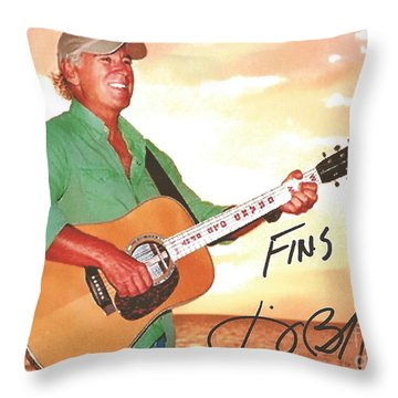 Jimmy Buffett Sunset With The Grand Old Opry  Throw Pillow