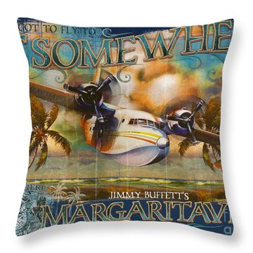 Jimmy Buffett's Hemisphere Dancer Throw Pillow