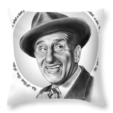 Jimmy Durante Throw Pillow