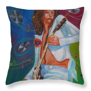 Jimmy Page 2 Throw Pillow by To-Tam Gerwe