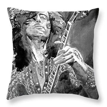 Jimmy Page Mono Throw Pillow
