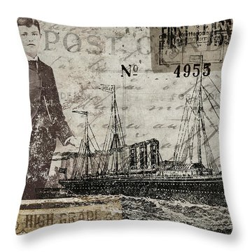 Jimmy Plays With Boats Throw Pillow