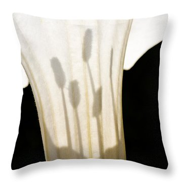 Jimsonweed Chiaroscuro Throw Pillow