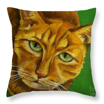 Jing Jing - Cat Throw Pillow