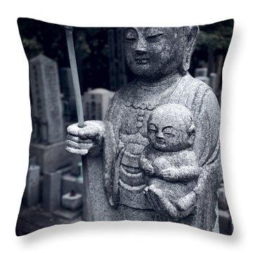 Jizo Bodhisattva Deity Of Kyoto  Throw Pillow