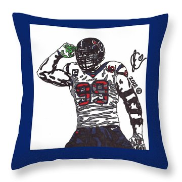 Jj Watt 1 Throw Pillow