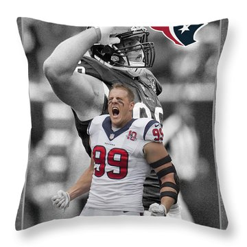 Jj Watt Texans Throw Pillow