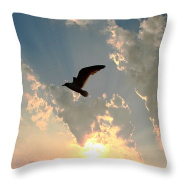 Jl Seagull Throw Pillow