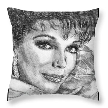 Joan Collins In 1985 Throw Pillow by J McCombie