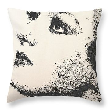 Throw Pillow featuring the painting Joan Crawford by Cherise Foster