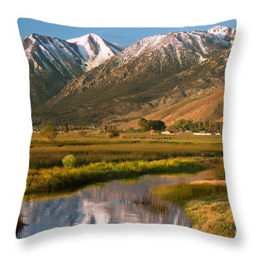 Job's Peak Reflections Throw Pillow