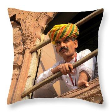 Jodhpur Fort Guard Throw Pillow