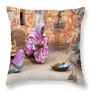 Jodhpur Fort Sweepers Throw Pillow