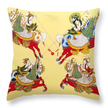 Jodhpur Polo Throw Pillow