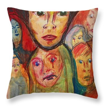 Jodi And The Puzzles Of Life Throw Pillow