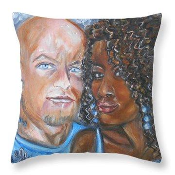 Joe And Jess Throw Pillow