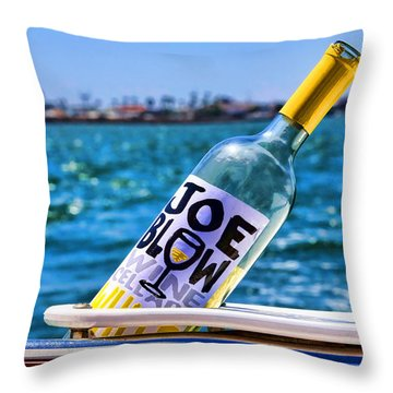 Joe Blow Saves The Day By Diana Sainz Throw Pillow