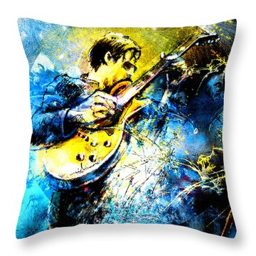 Joe Bonamassa 01 Bis Throw Pillow