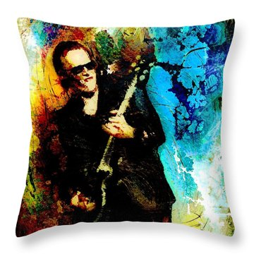 Joe Bonamassa Madness Throw Pillow