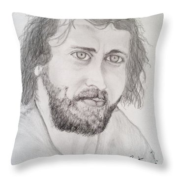 Throw Pillow featuring the painting Joe Cocker by Rand Swift