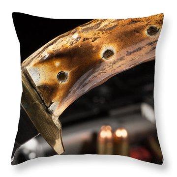 Joe Cheek Knife Series Throw Pillow by Lawrence Burry