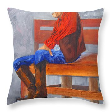 Joe From Hico Throw Pillow