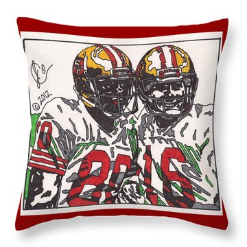 Joe Montana And Jerry Rice Throw Pillow