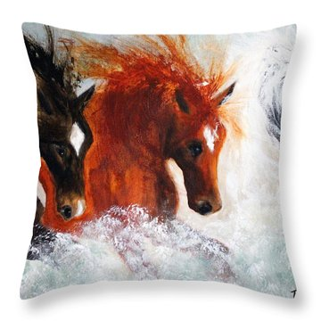 Joe Tj Apache Throw Pillow