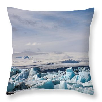 Joekulsarlon Glacial Lagoon Throw Pillow
