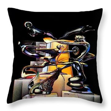 Joe's First Throw Pillow by Benjamin Yeager