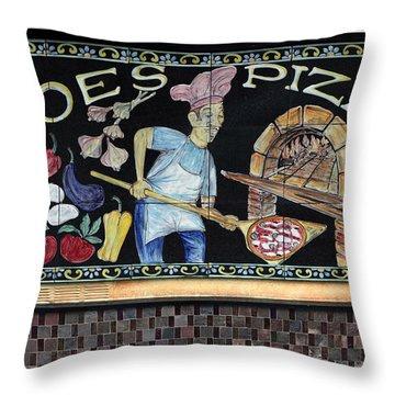 Throw Pillow featuring the photograph Joes Pizza by Dorin Adrian Berbier