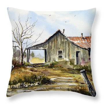 Joe's Place Throw Pillow