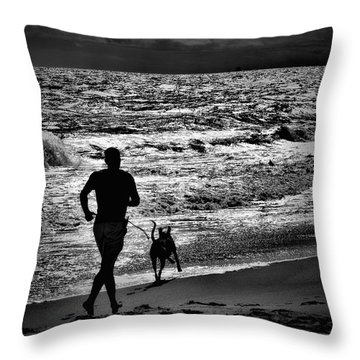 Joggin Wit Dad Throw Pillow