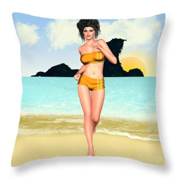 Jogging Miriam Throw Pillows