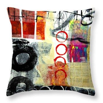 Joggles Throw Pillow by Elena Nosyreva