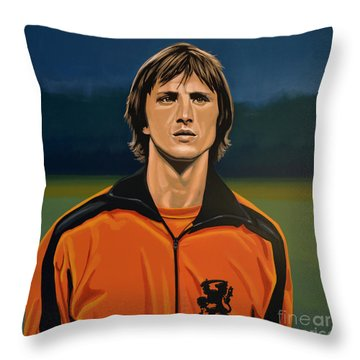 Johan Cruyff Oranje Throw Pillow