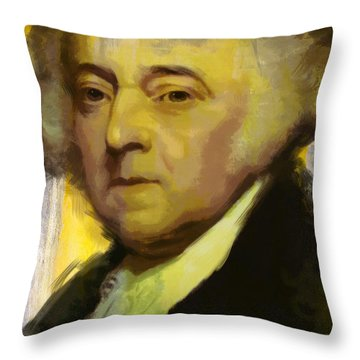 John Adams Throw Pillow by Corporate Art Task Force