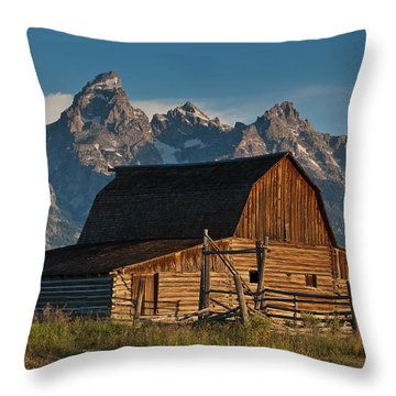 Throw Pillow featuring the photograph John And Bartha Moulton Barn by Jeff Goulden