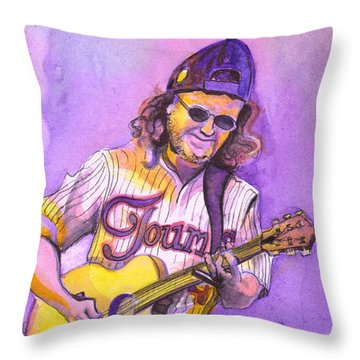 John Bell With Hat Throw Pillow by David Sockrider