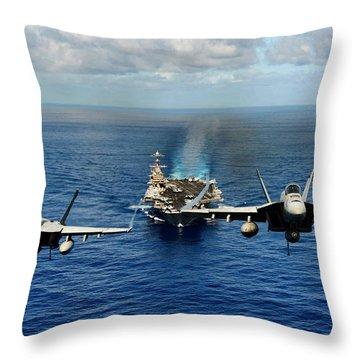 John C. Stennis Carrier Strike Group Throw Pillow by Mountain Dreams