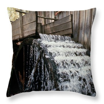 John Cable Mill, Cades Cove, Tennessee Throw Pillow
