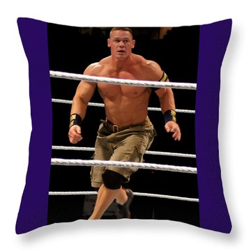 John Cena In Action Throw Pillow