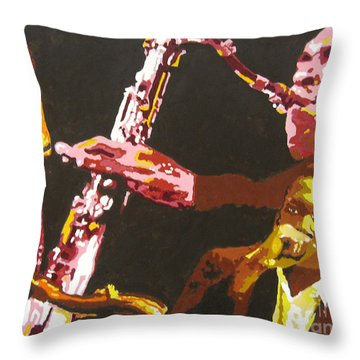 John Coltrane A Love Supreme Throw Pillow by Ronald Young