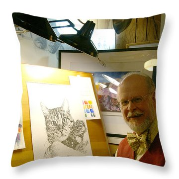 Throw Pillow featuring the photograph John D Benson by Charles Kraus
