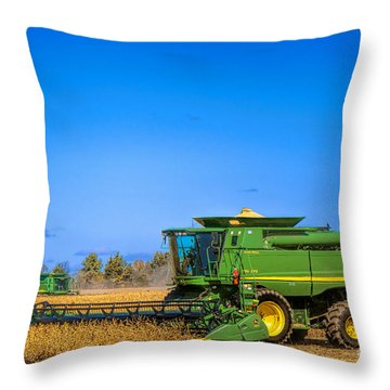 John Deere 9770 Throw Pillow by Olivier Le Queinec